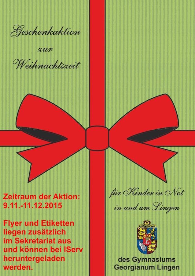 Flyer Geschenkaktion 2015