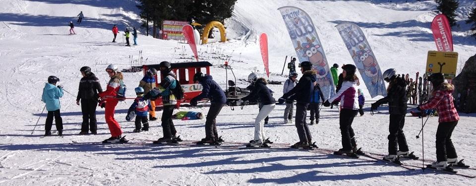 Polonaise auf Skiern