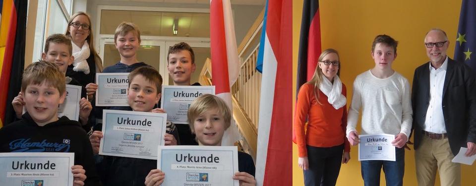 Schulsieger Geographie-Wettbewerb 2017