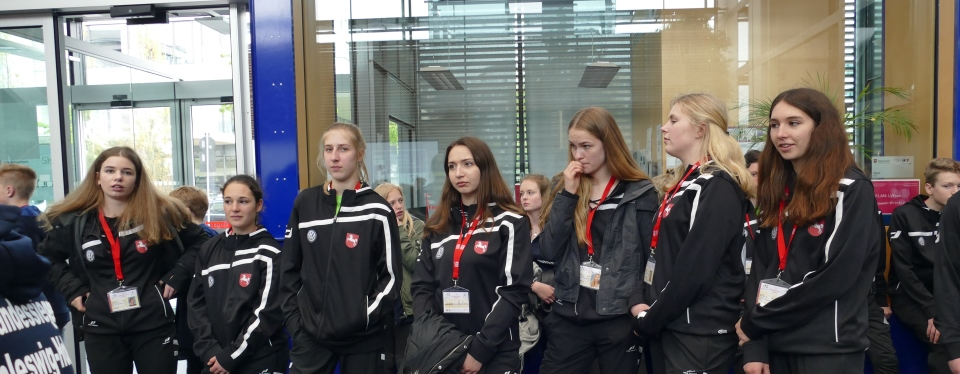 Unsere Mannschaft beim Länderempfang am Dienstag in Berlin