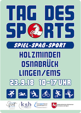 Plakat Tag des Sports