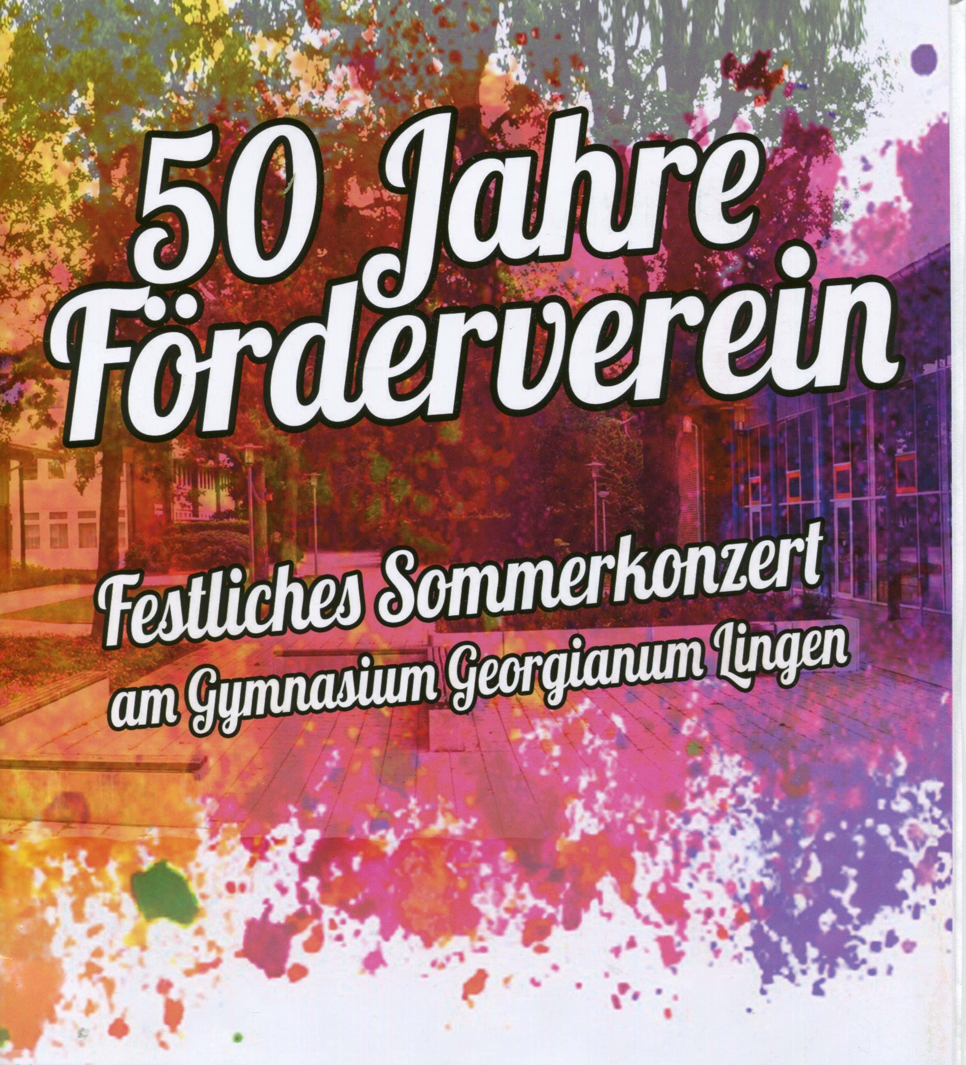 Impressionen vom Sommerkonzert zum 50jährigen Jubiläum des Fördervereins