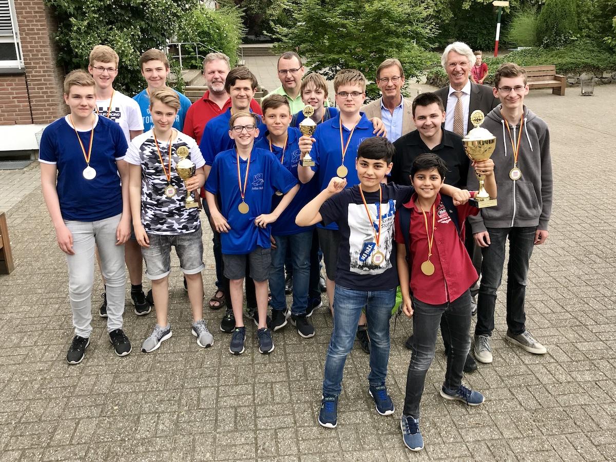Schulschach-Stadtmeisterschaften 2019 - Georgianum 1 verteidigt Titel