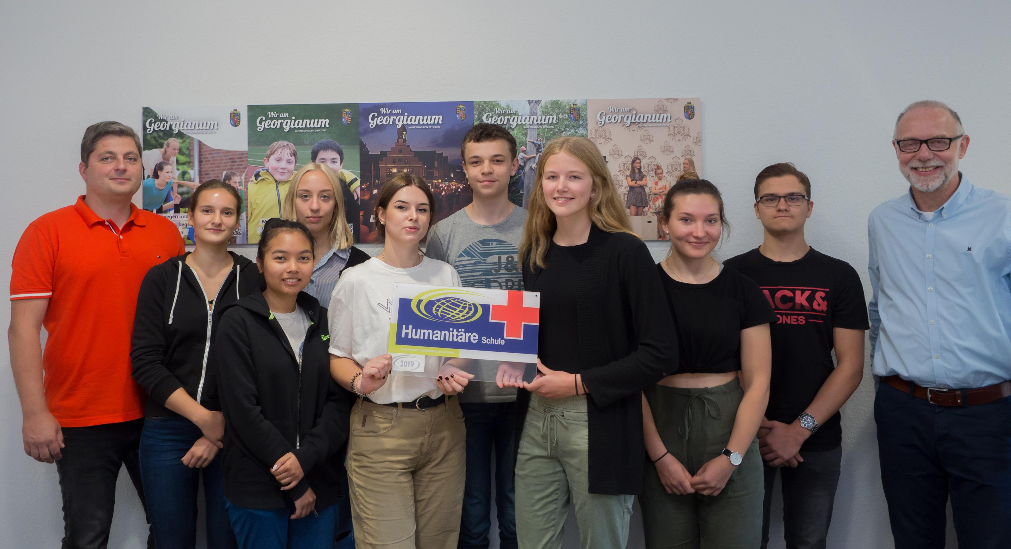 """Georgianum erstmals als """"Humanitäre Schule"""" zertifiziert"""