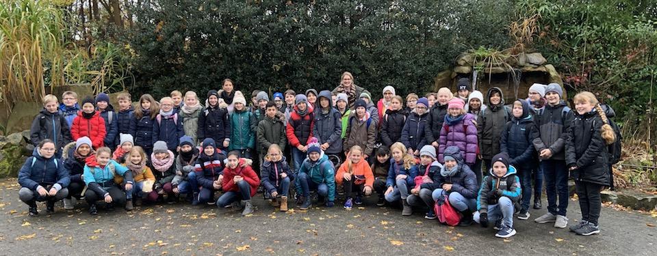 Fünftklässler in der Zooschule – Biologieunterricht im Freien