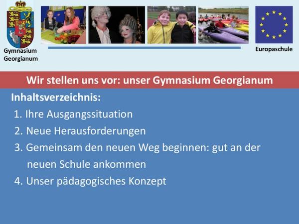 Vorschaubild Präsentation: Wir stellen uns vor: unser Gymnasium Georgianum