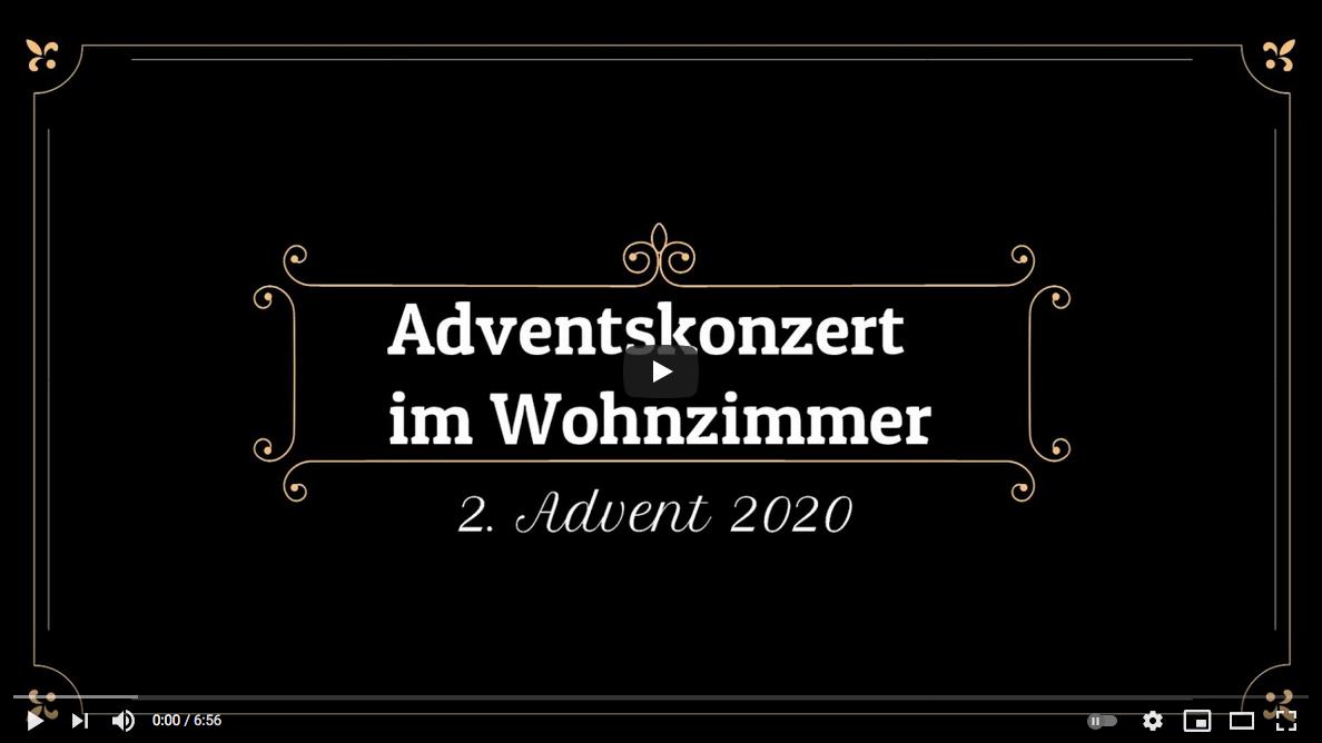 Adventskonzert im Wohnzimmer zum 2. Advent