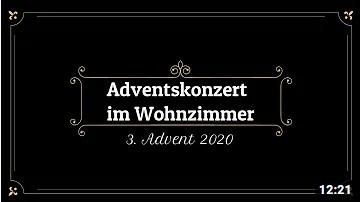 Adventskonzert im Wohnzimmer zum 3. Advent