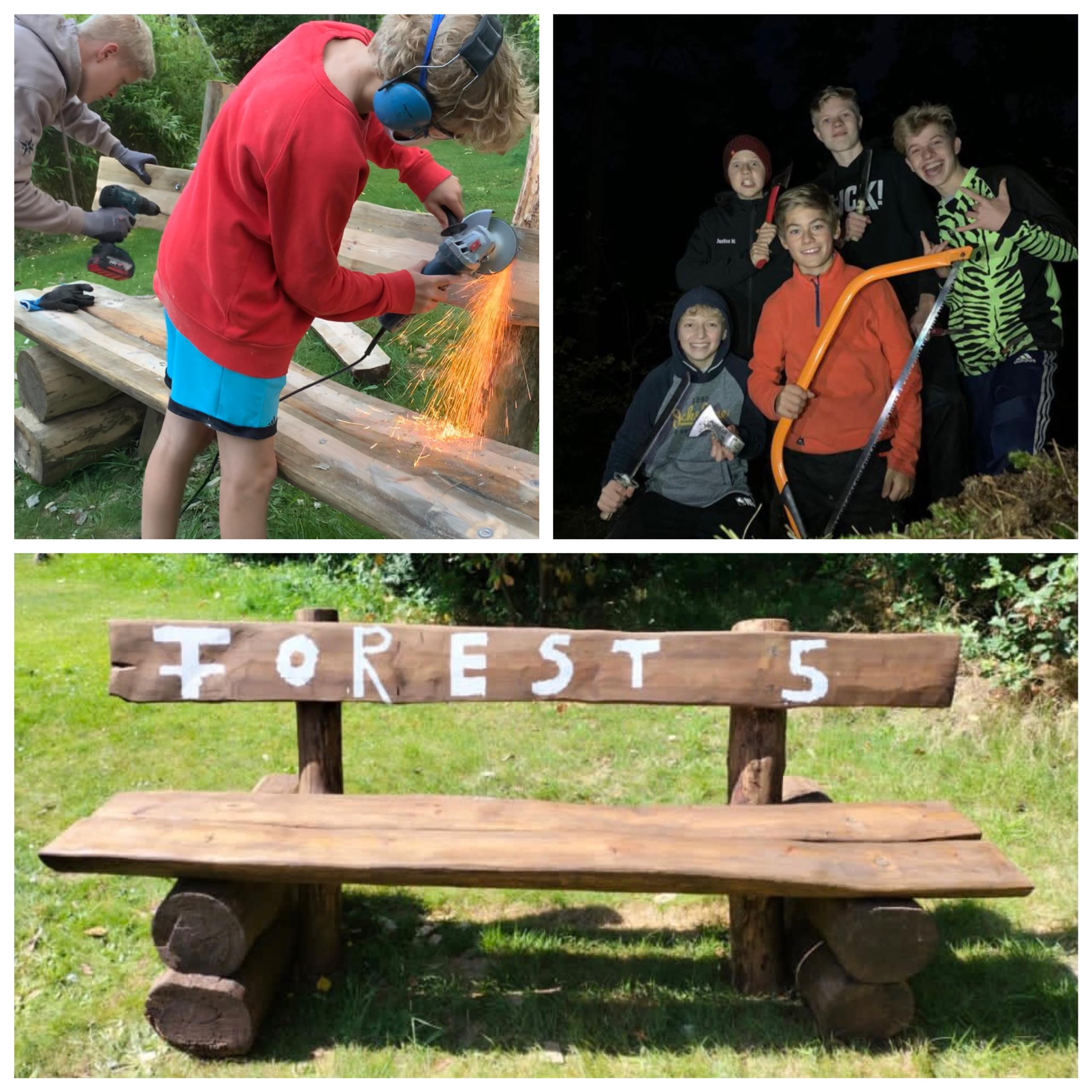 Forest 5 bauen Bank für Schüler und Schülerinnen des Georgianums