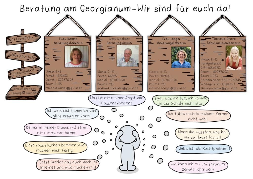 Plakat Beratung am Georgianum
